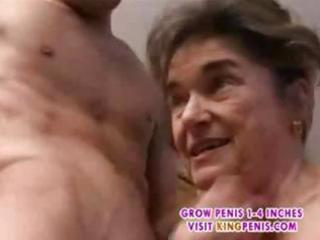 ancient hairy granny in nylons fingered suck and