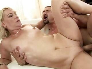 hot grandma enjoys hard fucking