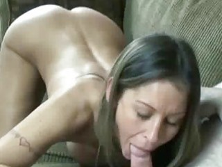 small and breasty wife leeanna swallows a dick