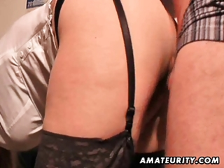 breasty dilettante milf sucks and copulates with