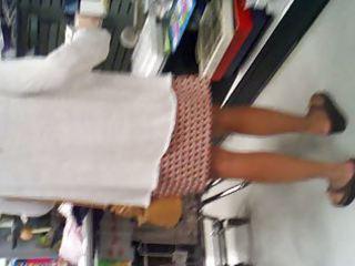 milf in plaid petticoat