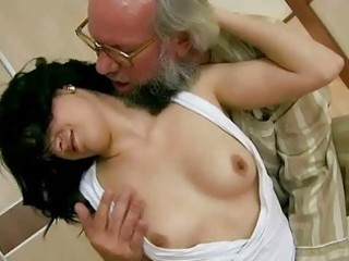 grandpa copulates his youthful girlfriend