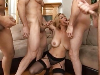 hot bigtits older engulfing four powerful cocks