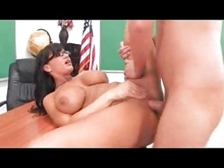breasty older teacher entice her student