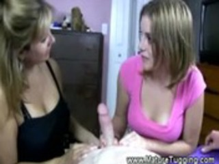 hot mommy and daughter team love to rub