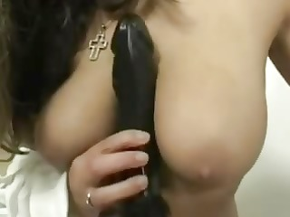 german woman with her large fake penis