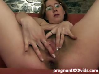 boy joins his fingering pregnant wife