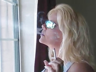 hawt blonde milf smokin compilation