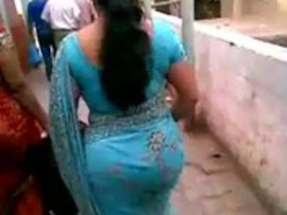aged indian booty in blue saree.flv - youtube