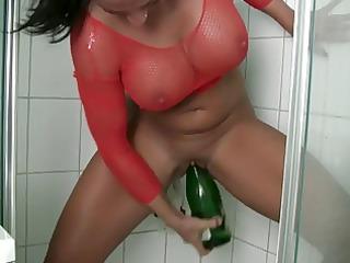 champagne bottle masturbating
