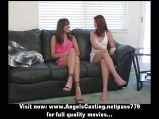 four hot non-professional women in short skirts