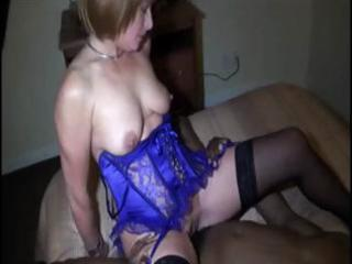 blonde wife does the indecent with a big dark