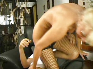 hot mama 1110 golden-haired hirsute older with a