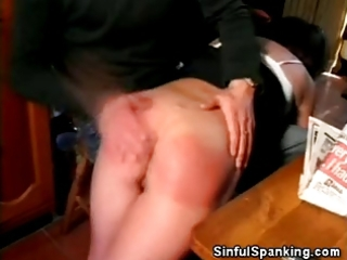 mature babe spanked