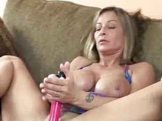 breasty milf leeanna fucking her bawdy cleft with