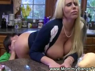 oral-sex kitchen play for excited milf from