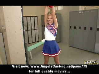 delicious blonde legal age teenager cheerleader