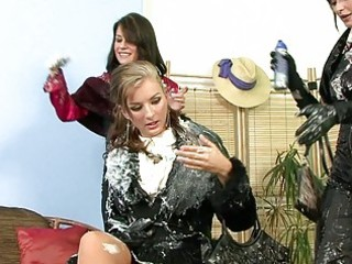 chic milf ladies having group lesbian sex