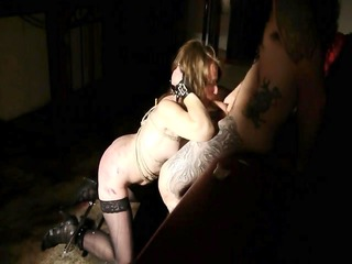 Threesome bdsm and pee for slave sandy