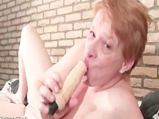 crazy mature woman sucking massive sex toy part8