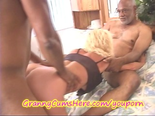 BIG BLACK COCK up GRANNYS ASS